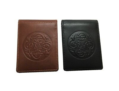 New Celtic Wallet & Money Clip Genuine Leather Irish Made Lee River Leather