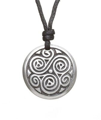 New Celtic Spiral Necklace Triskele of Balance Made in Ireland Amethyst Dublin