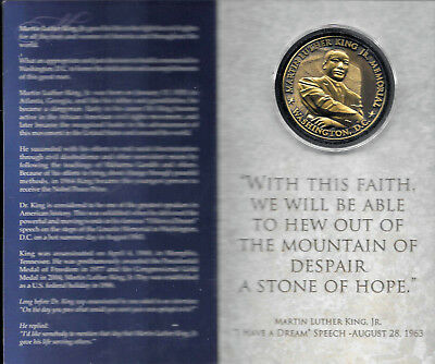 Rare Martin Luther King Jr Monument Dedication Commemorative Coin