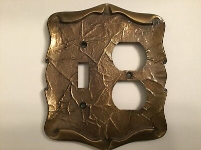 Vintage Amerock, Carriage House, Antique English Brass Light Switch Cover 9085