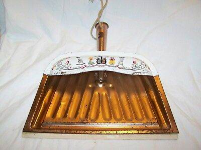 Vintage J.V. REED Metal Dust Pan Folk Art Enamel Louisville Kentucky USA