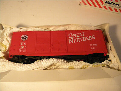 HO McKean #301 Great Northern Red 40' DD Boxcar RTR complete KD's OB