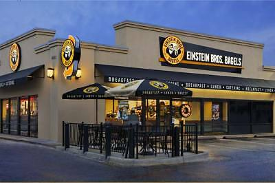 $75 physical Einstein Bagels Gift Card (can also be used at Caribou Coffee)
