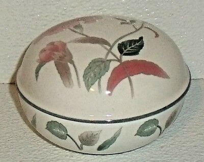 Mikasa Trinket Box SILK FLOWERS Pink Floral Lidded Candy Bowl Vtg 2006