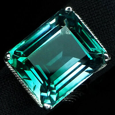 Amazing Aaa Blue Green Ametrine Main Stone 27.60 Ct. Gem 925 Silver Ring Sz 6.25