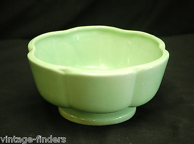 Old Vintage Art Pottery by Haeger Light Green Footed Planter Bowl USA MCM