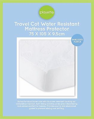 Travel Cot Water Resistant Mattress protector - Embossed Sheep 1394180.>