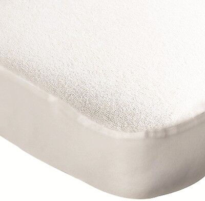 Travel Cot Water Resistant Mattress Protector  - Terry Towelling - 1394190..:.