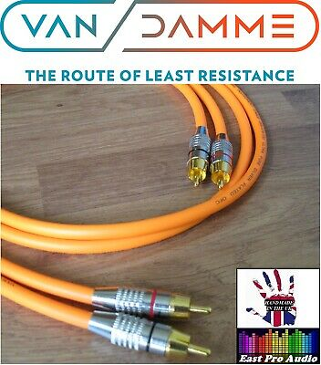 Van Damme - Silver Plated OFC RCA Phono Interconnect Cable Orange 1m