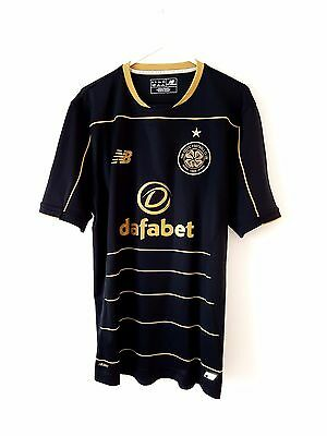 Celtic Away Shirt 2016. Small Adults. NB. Black Short Sleeves Football Top Only.