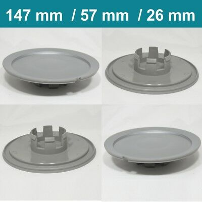 Alloy wheel center caps centre rim plastic 4x hub cap audi vw 147 mm 57 mm 26 mm