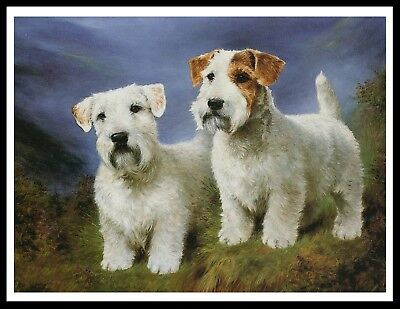 Sealyham Terrier Dogs Lovely Vintage Style Dog Art Print Poster