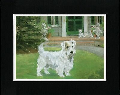 Sealyham Terrier Lovely Vintage Style Dog Art Print Matted Ready To Frame