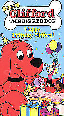 Clifford the Big Red Dog - Happy Birthday Clifford (VHS, 2002)