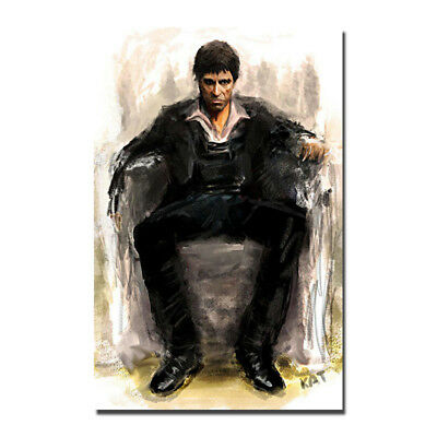 Scarface Classic Movie Silk Fabric Poster Canvas Art Print 12x18 inch