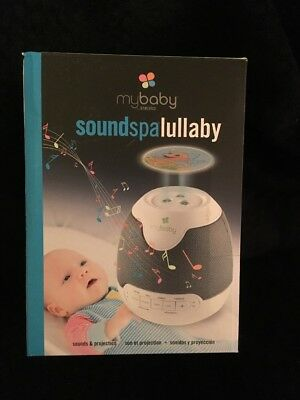 Mybaby Soundspa Lullaby Projector Nightlight Music New