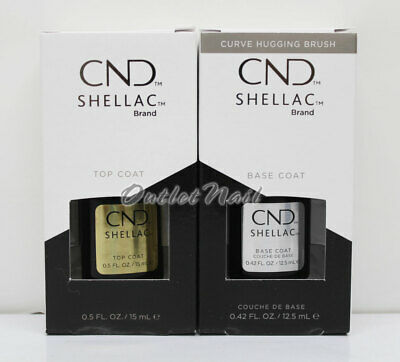 CND Shellac UV LED Gel LARGE 0.5oz 15ml DURAFORCE / XPRESS5 Top Base Coat .42oz
