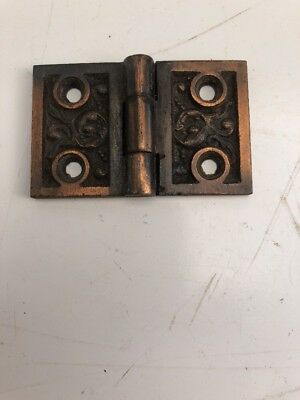 Antique Hardware Hinges Ornate Cast Iron Circa 1880's Shutter Or Cabinet