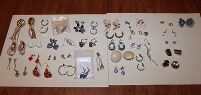 Lot of 30+ Pair of Mostly Vintage Earrings for Pierced Ears