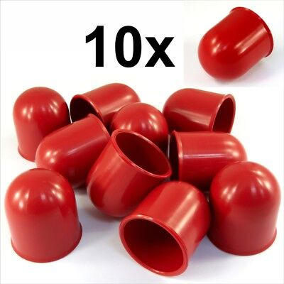 10x 50mm RED Tow Ball bar Cap Cover Towing Car Van Trailer Towball Protection