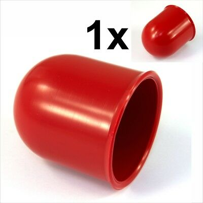 50mm Red Tow Bar Cover Cap Towing Hitch Car Caravan Trailer Towball Protector