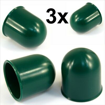 3x 50mm Green Tow Ball bar Cap Cover Towing Car Caravan Trailer Towball hitch x3