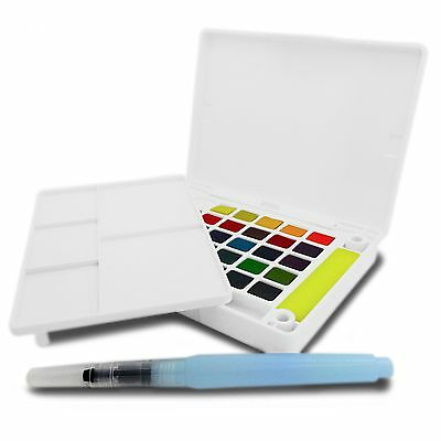 Sakura Koi Watercolour Paint Field Sketch Box - Brush, Sponge and 30 Colours