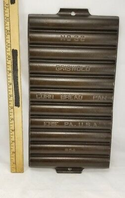 Vintage Griswold #22 Corn Bread Pan 954 Cast Iron Restored Erie Pa USA Seasoned