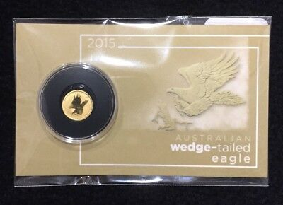 2015 Australia Wedge Tailed Eagle 0.5 Gram .9999 Gold Coin in Sealed Blister