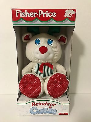 1998 Fisher Price Reindeer Cozie New In Box Thermal Plush Baby Toy