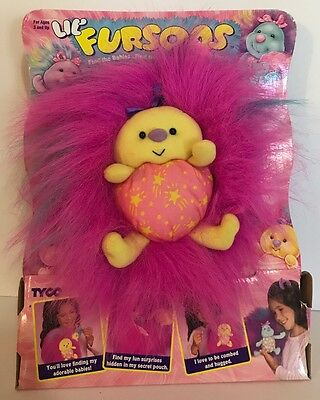 1995 Tyco Lil Fursons Fluffy Toy New Box Babies Hidden Surprise Pink Yellow Star