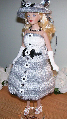 7 PIECE Handmade Crochet Clothing & Accessories for 10' Tiny KITTY COLLIER DOLLS