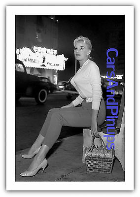 1950's SEXY Pinup JUNE WILKINSON 4x6 Photo That's One LUCKY Sweater Print CP1141