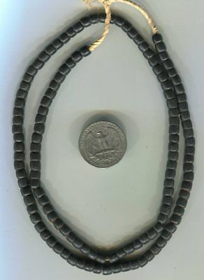 African Trade beads Vintage Venetian glass old black glass beads