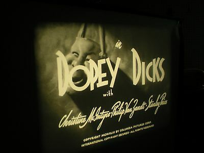 "16mm 3 Stooges Film ""Dopey Dicks"" Moe Larry Shemp! Nice Eastman Print!"