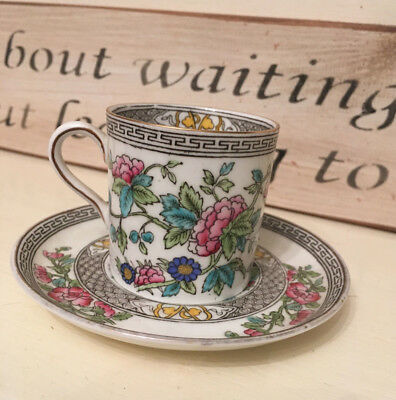 Beautiful Aynsley bone china small cup/saucer demitasse floral design