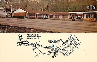 Covington Kentucky~Denlou Motel~Dixie highway~Map~Telephone Booth~1950s Cars~PC