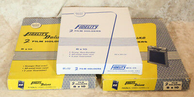 2 8x10 Film Holders Fidelity Deluxe Lightly Used in Box