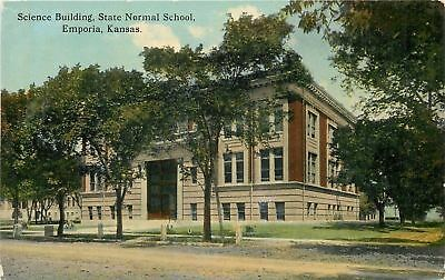 Emporia Kansas~State Normal School~Science Building~1910 Postcard