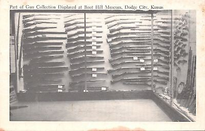 Dodge City Kansas~Boot Hill Museum~Gun Collection~1950s B&W Postcard