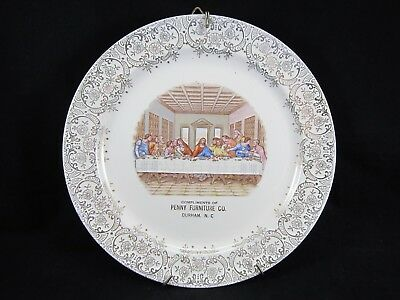 VTG TAYLOR SMITH TAYLOR 'The Last Supper' 'Penny Furniture Co' Advertising Plate