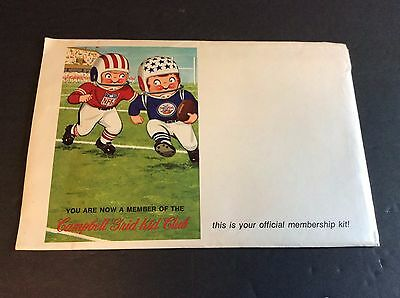 CAMPBELL GRID KID CLUB Membership Packet Campbell's Soup Company 1969