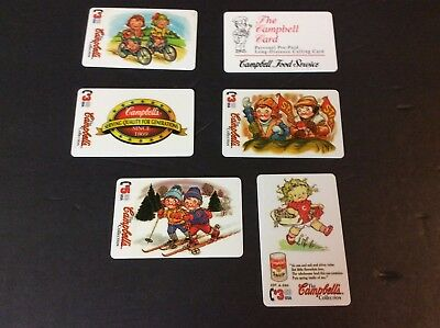 Lot of 6 Campbell's Soup Company CAMPBELL KIDS Calling Cards 1995