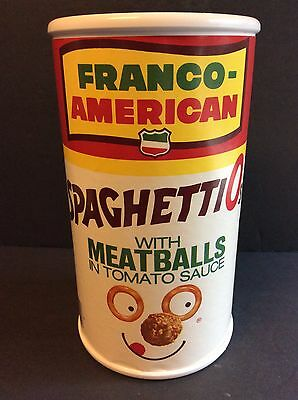 Franco-American SPAGHETTIOs with Meatballs Can Bank Campbell's Soup Related