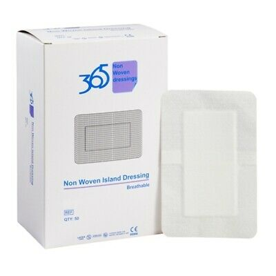 365 Non-woven Island Dressings 5CM X 7.2CM x 50 Conformable/Absorbent pad