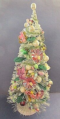"""Spring / Easter Tree = Decorated Bottle Brush Tree= 9"""" Tall"""