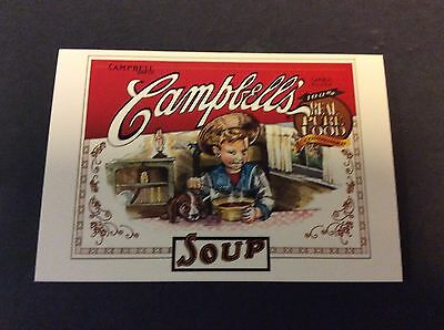 CAMPBELL'S REAL PURE FOOD SOUP Ad Postcard Campbell's Soup Company  1996