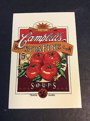 CAMPBELL'S EXTRA FINE SOUP Ad Postcard 1996  Campbell's Soup Company