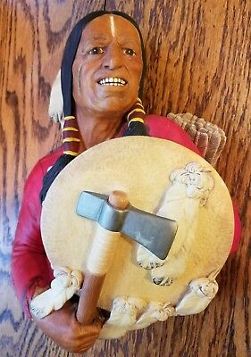 Vintage Congleton Cheyenne Bossons Chalkware England Excellent Condition