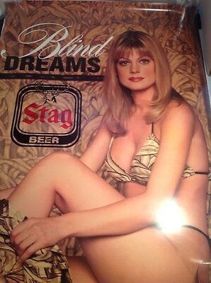Stag Beer Sexy Lady Poster 29 X 37 Inches Vintage Beer Poster Man Cave Bar Large